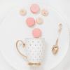 White pokadot mug sweet