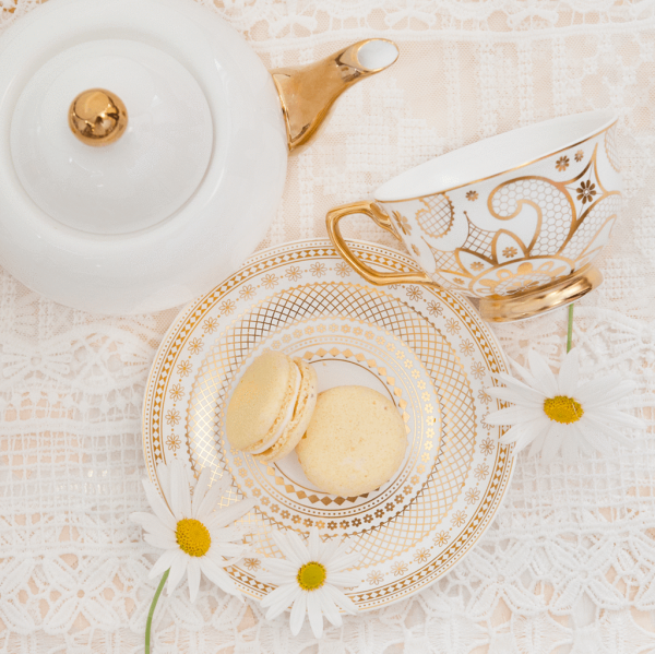 Lace White and Teapot